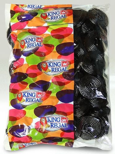 KR18 KING REGAL LICORICE WHEELS 1KG